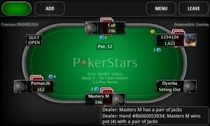 Покер старс на телефон