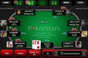 Покер старс на телефон андроид