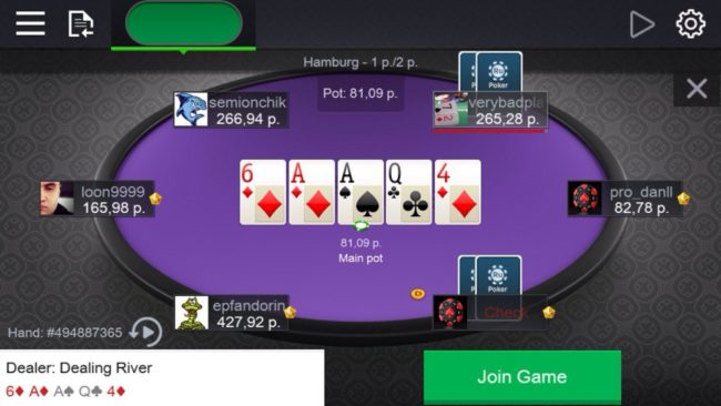 ру покер на телефон