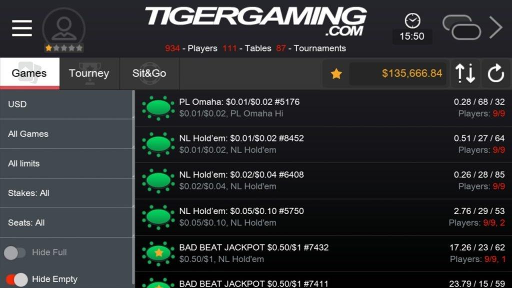 приложение tiger gaming poker